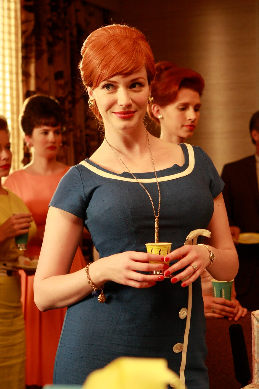 Joan Holloway - MadMen - Blue Dress w White Trim
