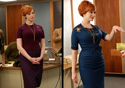 Joan Holloway Mad Men MadMen - Purple & Royal Blue Double