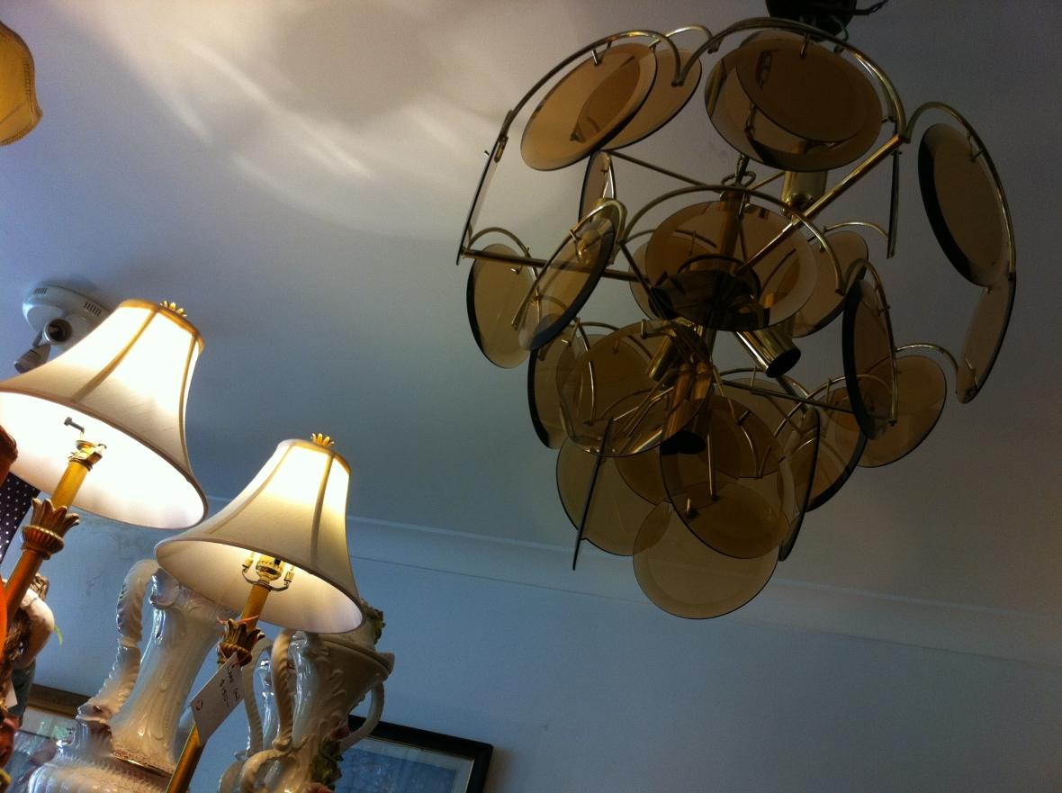 1970s vintage chandelier from Cram 72 Pitt Street Redfern