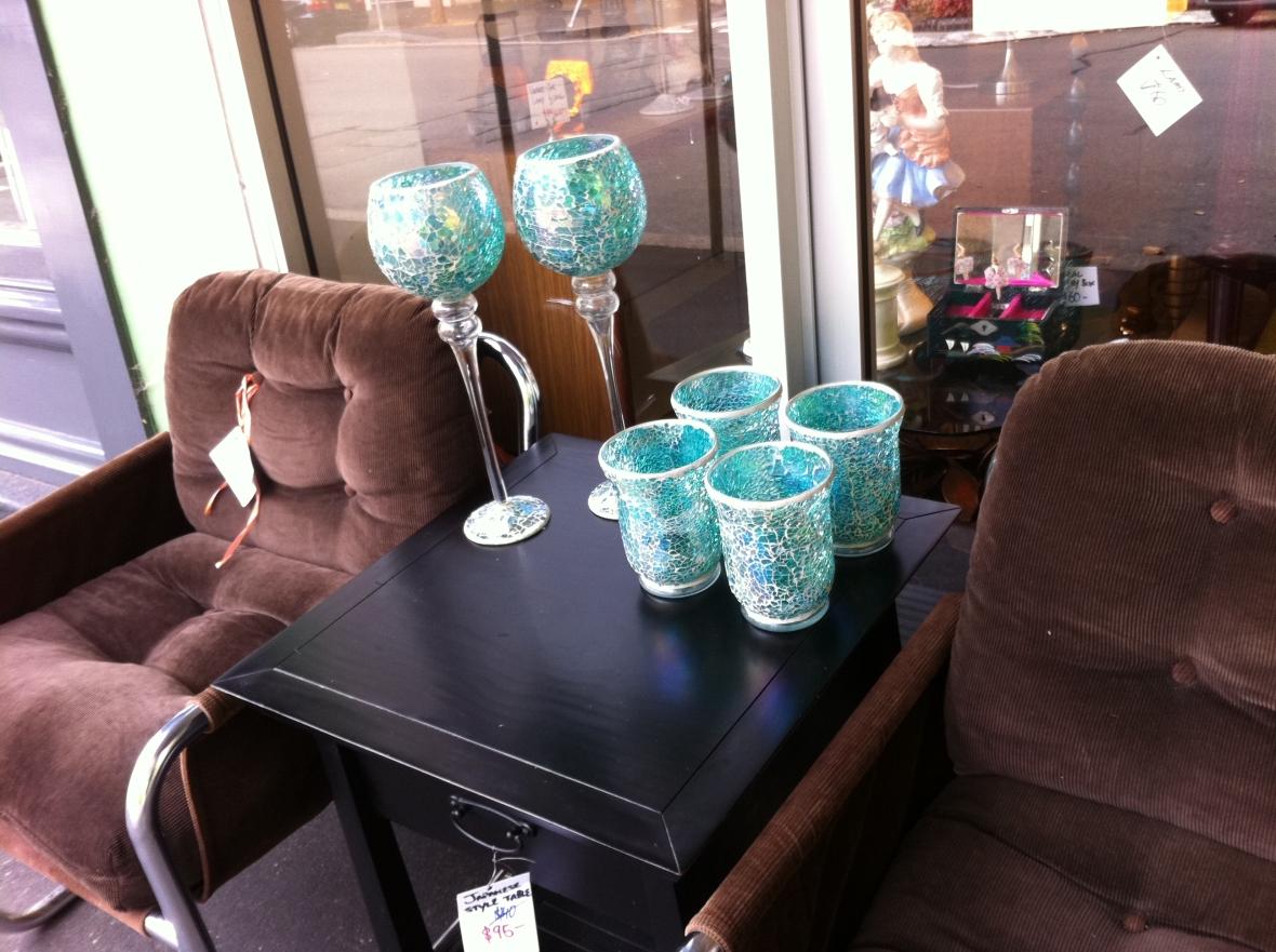 Aqua glassware from Cram 72 Pitt Street Redfern