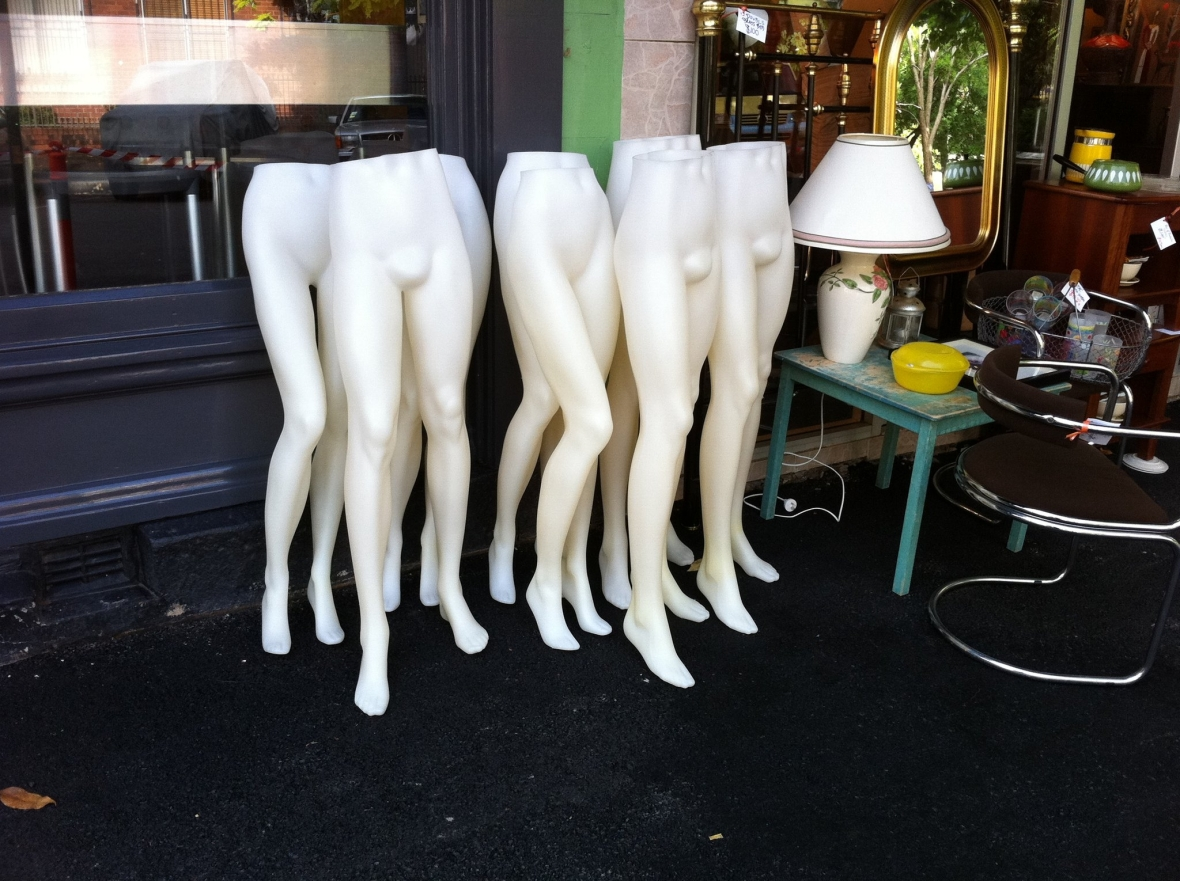 Half a herd of mannequins from Cram 72 Pitt Street Redfern