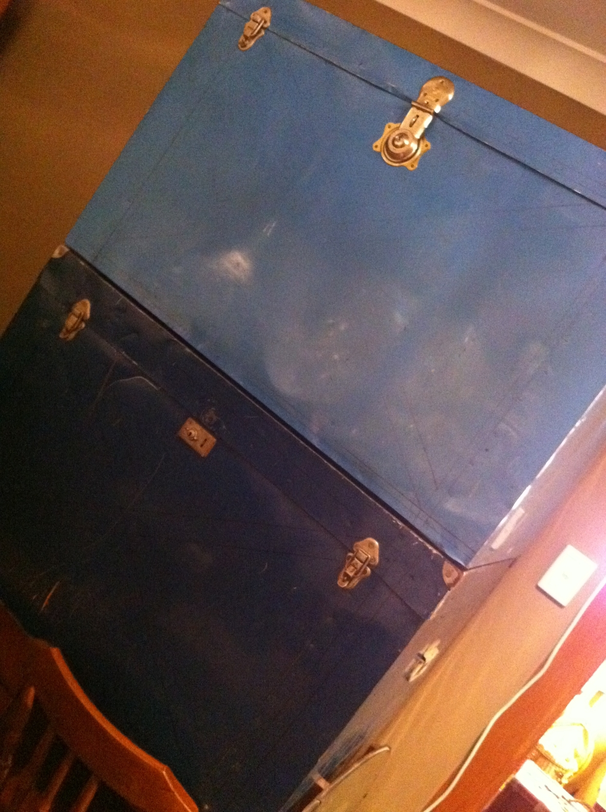Huge vintage tin traveling trunks from Cram 72 Pitt Street Redfern