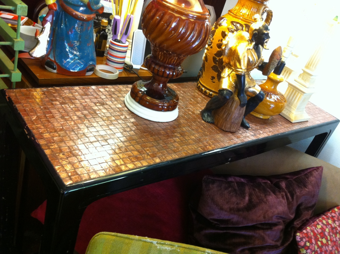 Vintage tiled table from Cram 72 Pitt Street Redfern - $170