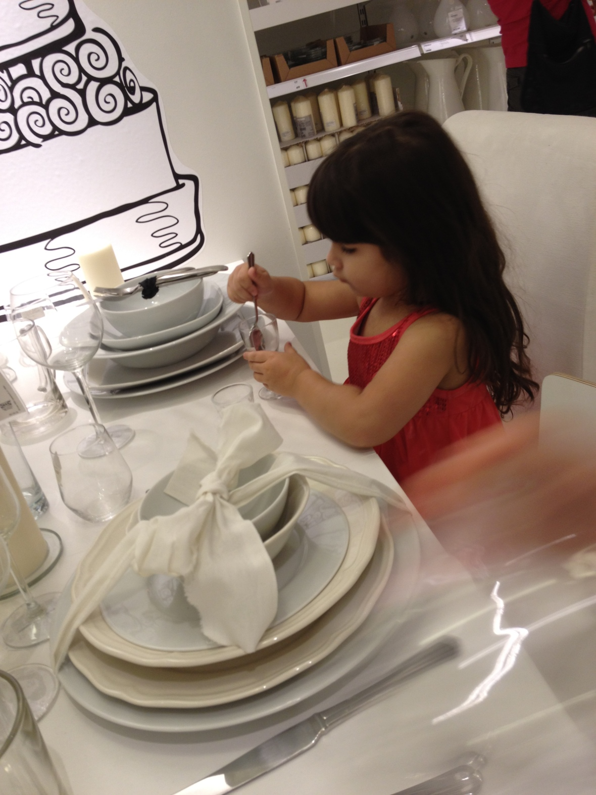 Ikea Tempe experiential - Miss3 experiences the wedding reception