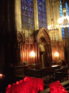 Black Madonna Chartres France - surrounded by candles