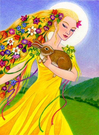Astarte, Easter, Eostre... sounds like eostrogen