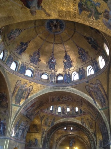 Apostles receiving the holy spirit, like a ray of sunshine, San Marco Venezia, Italy