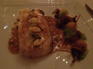 George LeCinq best restaurants Paris, France - swordfish w chestnuts