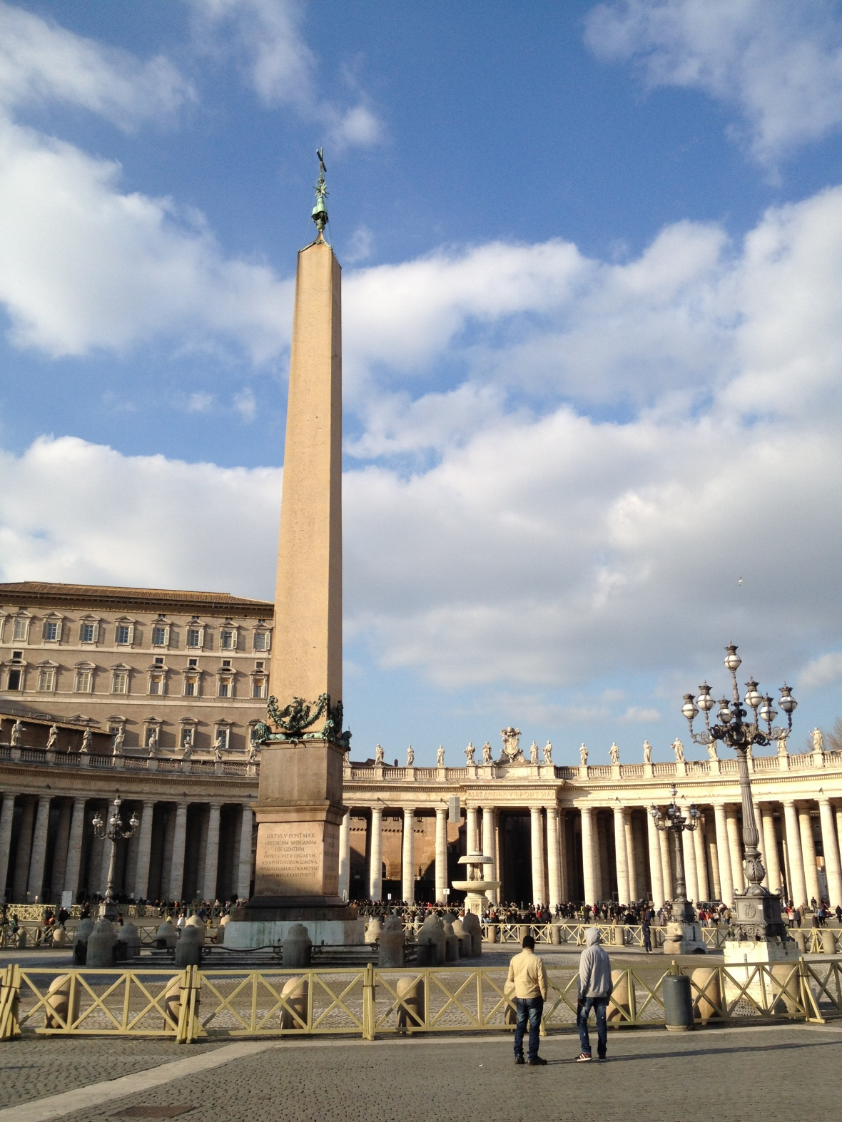 Vatican Obelisk 41m, inc 25.5m Egyptian red granite, last re-erected in 1586 as Bernini's plaza centrepiece