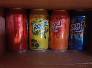 Aldi - Fully recyclable softdrink cans and packaging, one of each flavour visible