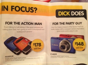 Catalogue - Dick Smith nice neat font, whole prices, Father's Day copy