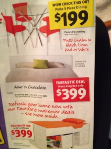 Catalogue Marketing Strategy Print Pricing - Fantastic Furniture front page
