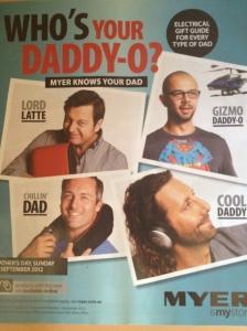 Catalogue - Myer, who's your Daddy Father's Day