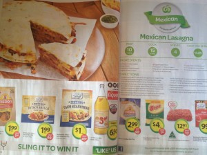 Catalogue - Woolworths recipe and shopping list