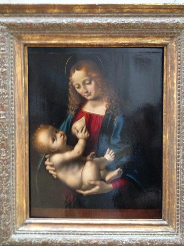 Baby Jesus loves boobs