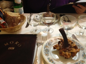 Must eat at restaurant Al Moro in Rome Italy