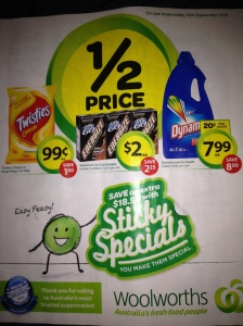 Marketing Strategy - Woolworths Sticky Specials