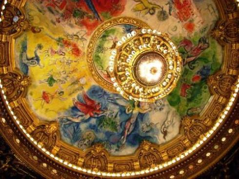 Marc Chagall painting - ceiling of Paris Opera House